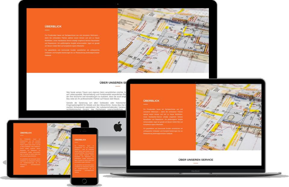Webdesign_Projekt_Bauunternehmen Template