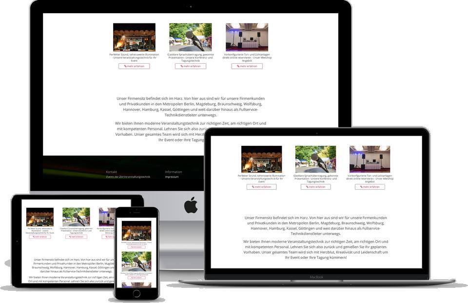 Webdesign Projekt Mietshop