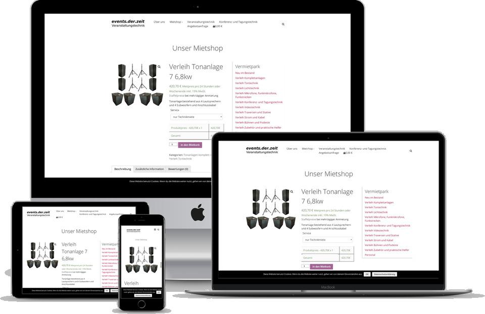 Webdesign Projekt Verleih