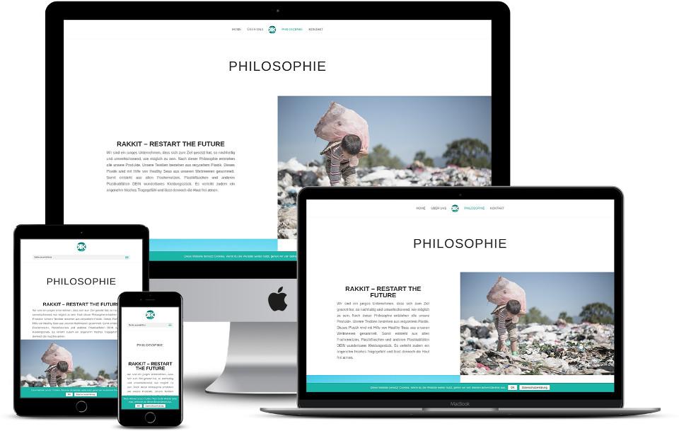 Webdesign Startup Plastikfrei Rakkit