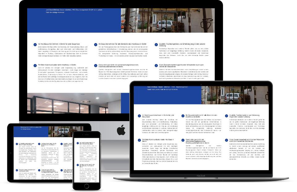 Webseite erstellen lassen Bauunternehmen