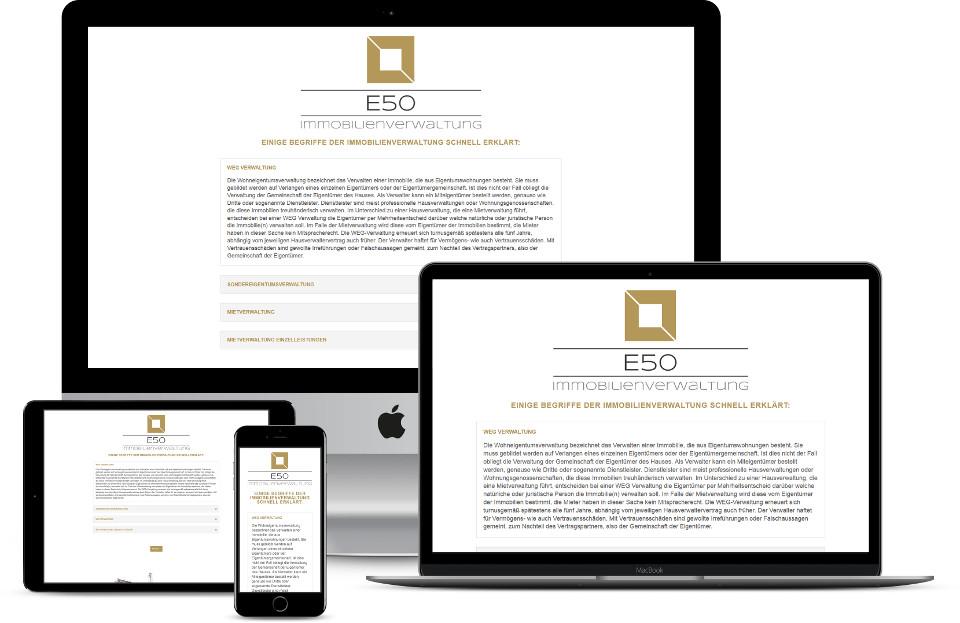Webdesign Immobilien Makler Hausverwaltung