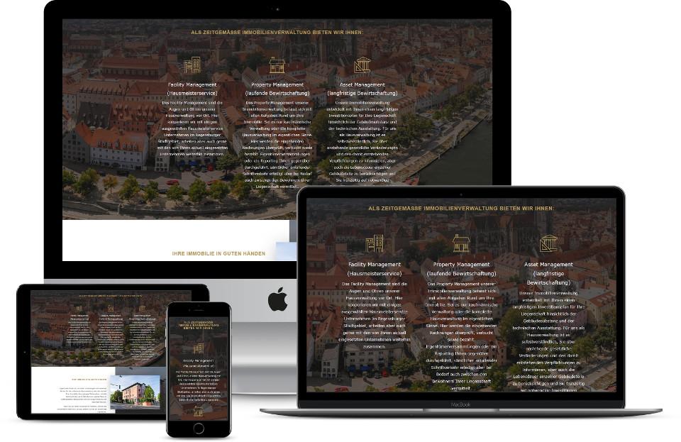 Webdesign Immobilien Verwaltung