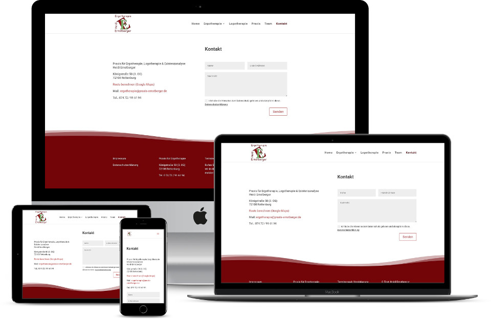 Webdesign Therapie Praxis