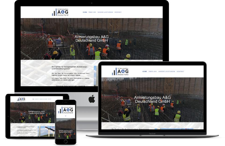 Webdesign Website erstellen lassen Armierungsbau