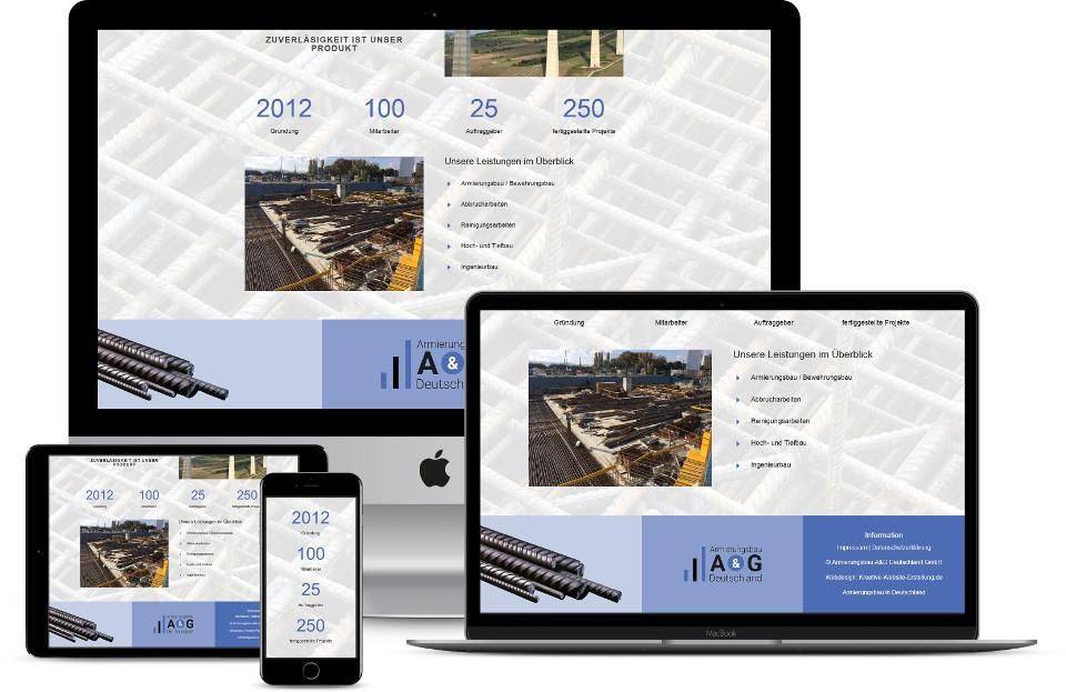 Webdesign Website erstellen lassen Baubranche