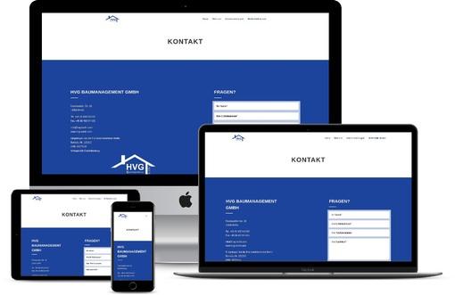Homepage Bauunternehmen Webdesign Berlin