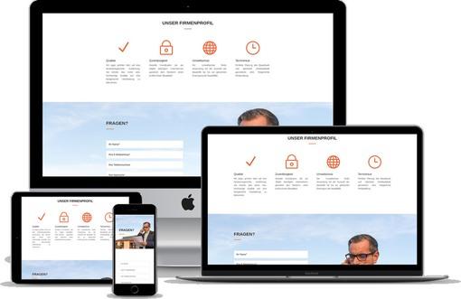 Modernes Webdesign Bauunternehmen