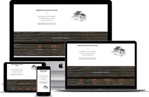 Webdesign Projekt Bau