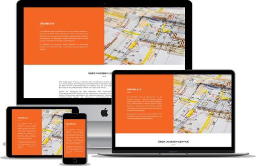 Webdesign Projekt Bauunternehmen Template